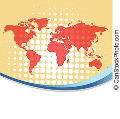 świat, eps10, tło, mapa