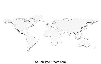świat, formułować, papier, map.
