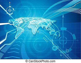 świat, globalisation, tło, mapa