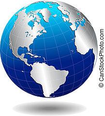 świat, globalny, na północ południe, ameryka