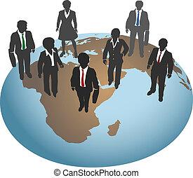świat, globalny, stać, handlowy zaludniają