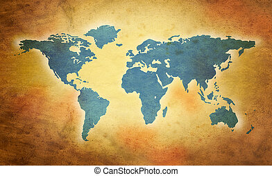 świat, grunge, mapa