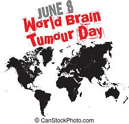 świat, guz, dzień, mózg