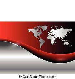świat handlowy, tło, mapa