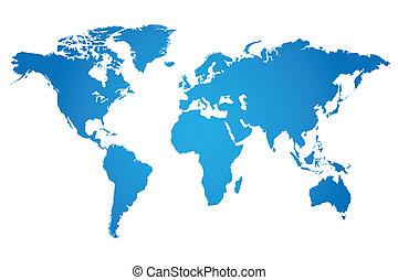 świat, ilustracja, mapa