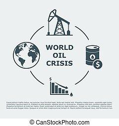 świat, infographic, kryzys, nafta