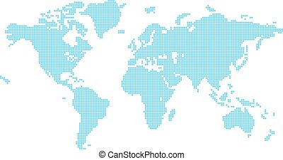 świat, kwadraty, mapa