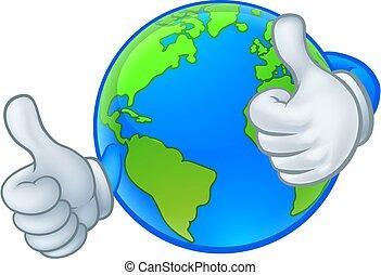 świat, maskotka, kula, litera, ziemia, rysunek