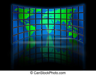 świat, multimedia, hydromonitor