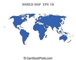 świat, odizolowany, mapa