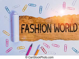 świat, odzież, fason, fotografia, tekst, pokaz, konceptualny, appearance., znak, style, zwija, world.