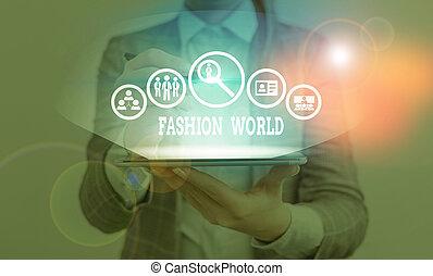 świat, odzież, pisanie, fason, tekst, appearance., style, pojęcie, zwija, treść, pismo, world.