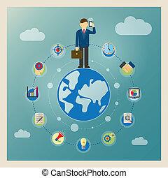świat, pojęcie, handlowy
