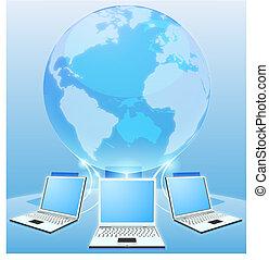 świat, pojęcie, komputerowa sieć