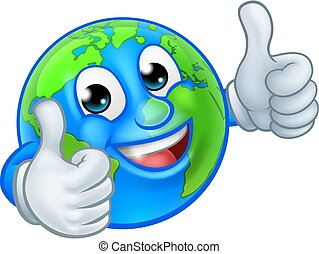 świat, rysunek, maskotka, litera, kula, ziemia
