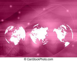 świat, styl, technologia, mapa