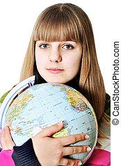 światowa kula, dziewczyna