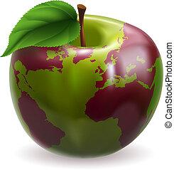 światowa kula, jabłko