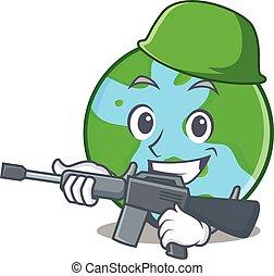 światowa kula, litera, rysunek, armia