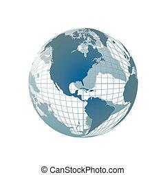 światowa kula, mapa, 3d