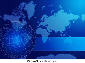 światowa kula, mapa