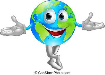 światowa kula, maskotka, człowiek
