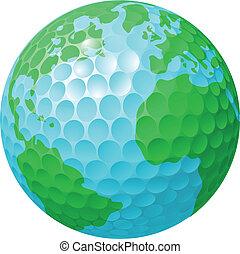 światowa kula, pojęcie, golfowa piłka