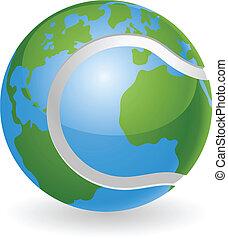 światowa kula, pojęcie, piłka, tenis