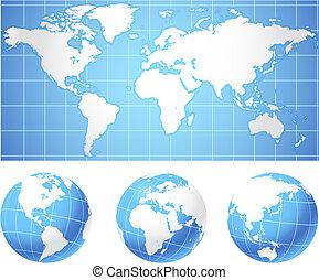 światowa mapa, kule