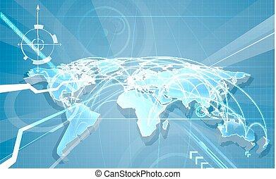 światowy handel, globalisation, tło, mapa