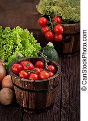 świeża zielenina, organiczny