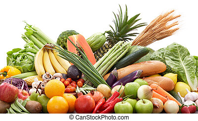 świeża zielenina, owoce