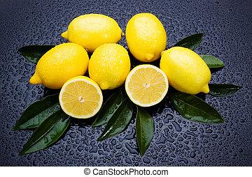 świeży owoc, cytryna