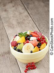 świeży owoc, smakowity, sałata