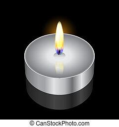 świeca, wektor, ilustracja
