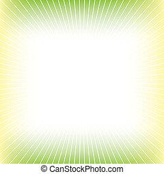 żółte tło, zielony abstrakt