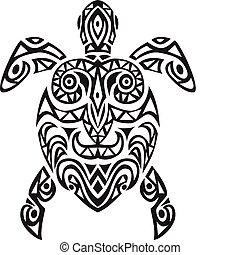 żółw, projektować, tatto