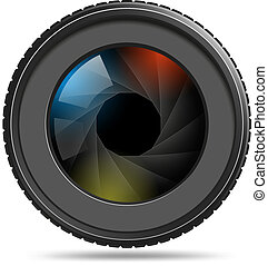 żaluzja, soczewka aparatu fotograficzny, fotografia