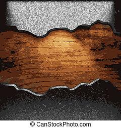 żelazo, drewno, płyta