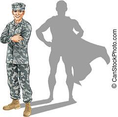 żołnierz, pojęcie, bohater