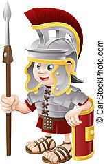 żołnierz, rzymski, rysunek