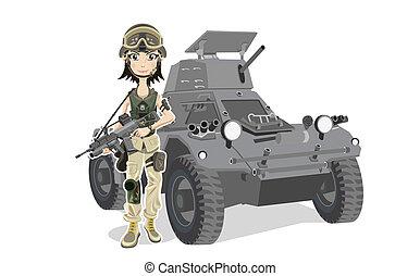 żołnierz, samica