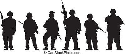 żołnierz, sylwetka