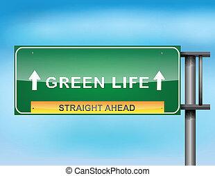 """życie, """", tekst, znak, """"green, szosa"""