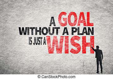 życzenie, bez, gol, właśnie, plan