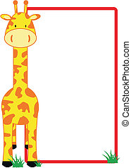 żyrafa, copyspace