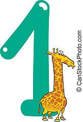 żyrafa, liczba