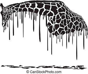 żyrafa, malarstwo