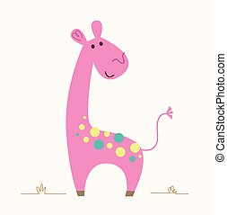 żyrafa, różowy
