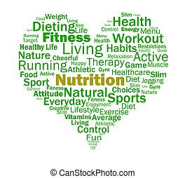 żywienie, serce, zdrowy, odżywki, żywieniowy, jadło, widać